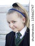 student in school uniform... | Shutterstock . vector #135662747