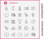 banking hand drawn icon for web ...