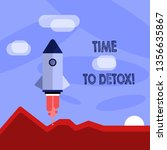 word writing text time to detox.... | Shutterstock . vector #1356635867