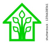 eco house   green home icon  ... | Shutterstock .eps vector #1356638561