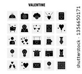 valentine solid glyph icon pack ...   Shutterstock .eps vector #1356650171