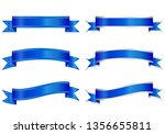 set of different shaped ribbons ... | Shutterstock .eps vector #1356655811