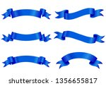 set of different shaped ribbons ... | Shutterstock .eps vector #1356655817