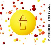 bubble backgraund with shaker... | Shutterstock .eps vector #1356681227
