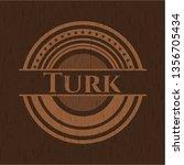 turk vintage wooden emblem | Shutterstock .eps vector #1356705434