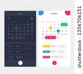 modern app design calendar and...