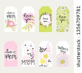 labels set on mothers day....   Shutterstock .eps vector #1356709781