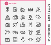 valentine line icons set for... | Shutterstock .eps vector #1356711101