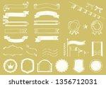handwriting style ribbon frame... | Shutterstock .eps vector #1356712031