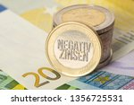 euro banknotes and euro coins... | Shutterstock . vector #1356725531