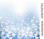 white paper orignami butterflies | Shutterstock .eps vector #1356743741
