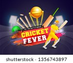 cricket championship banner or... | Shutterstock .eps vector #1356743897