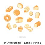 bread isolated on a white... | Shutterstock .eps vector #1356744461