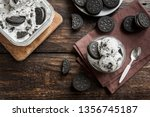 ice cream with chocolate and... | Shutterstock . vector #1356745187