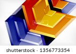 abstract glossy techno arrows... | Shutterstock .eps vector #1356773354