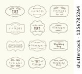 vintage frames  sign boards set ... | Shutterstock .eps vector #1356785264