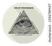 vector occult all seeing eye...   Shutterstock .eps vector #1356789437