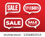 set of sale banner template... | Shutterstock .eps vector #1356802514