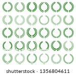 vector collection of green... | Shutterstock .eps vector #1356804611