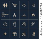 vector set of various signage... | Shutterstock .eps vector #1356806744