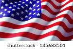 american flag | Shutterstock . vector #135683501