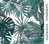 tropical seamless pattern with... | Shutterstock . vector #1356838541
