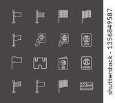 outline 16 united icon set. usa ... | Shutterstock .eps vector #1356849587