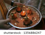 indian holy rituals  | Shutterstock . vector #1356886247