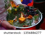 indian holy rituals  | Shutterstock . vector #1356886277
