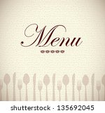 menu icons over brown... | Shutterstock .eps vector #135692045