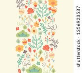 bright spring floral background ... | Shutterstock .eps vector #1356923537