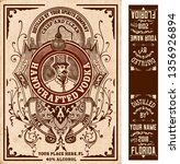 vintage liquor labels. vector... | Shutterstock .eps vector #1356926894