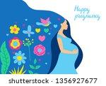 happy pregnancy. pretty... | Shutterstock .eps vector #1356927677