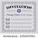 grey vintage invitation...   Shutterstock .eps vector #1356932561