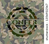 confer on camouflage pattern | Shutterstock .eps vector #1356932567