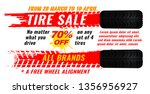 vector tire sale out banner...   Shutterstock .eps vector #1356956927