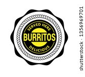 burritos label vintage.... | Shutterstock .eps vector #1356969701
