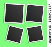 black and white photo frames... | Shutterstock .eps vector #1356971567