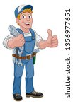 mechanic plumber maintenance... | Shutterstock .eps vector #1356977651