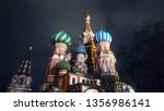 saint basil's cathedral in... | Shutterstock . vector #1356986141