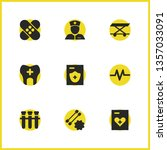 healthcare icons set with woman ...