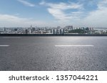 panoramic skyline with empty... | Shutterstock . vector #1357044221