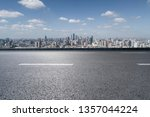panoramic skyline with empty... | Shutterstock . vector #1357044224