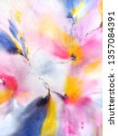 floral background. watercolor... | Shutterstock . vector #1357084391