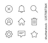 interface linear icons set