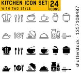 kitchen icons set with two... | Shutterstock .eps vector #1357108487