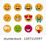 set of simple round yellow... | Shutterstock .eps vector #1357115597