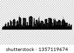 silhouette of city with black... | Shutterstock . vector #1357119674