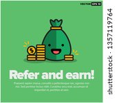 sack full of money with refer...