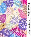 vertical floral background with ...   Shutterstock .eps vector #1357127354